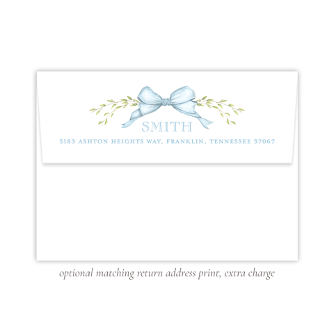 Victoria Blue Return Address Print