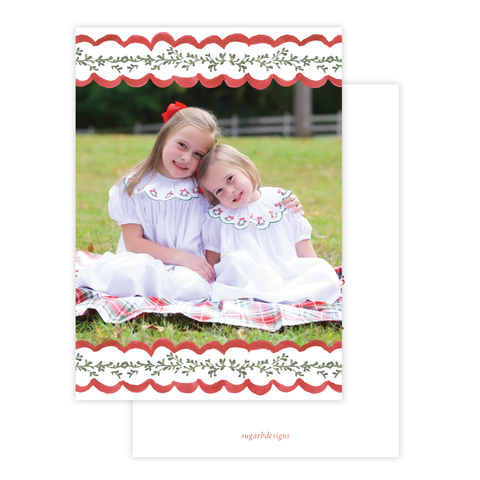 Wadsworth Wreath Christmas Card Portrait