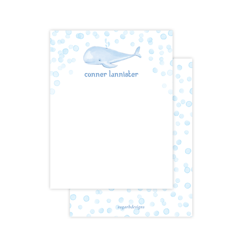 Willie Whale Flat Stationery by Sugar B Designs