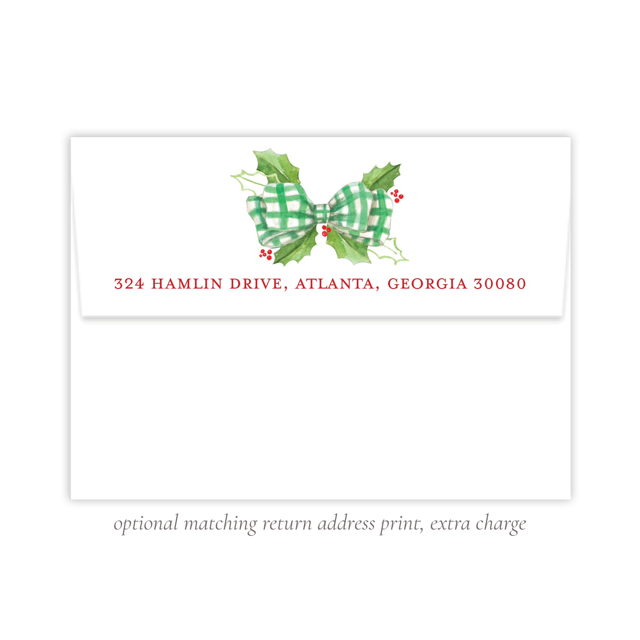 Windsor Winter Green Return Address Print