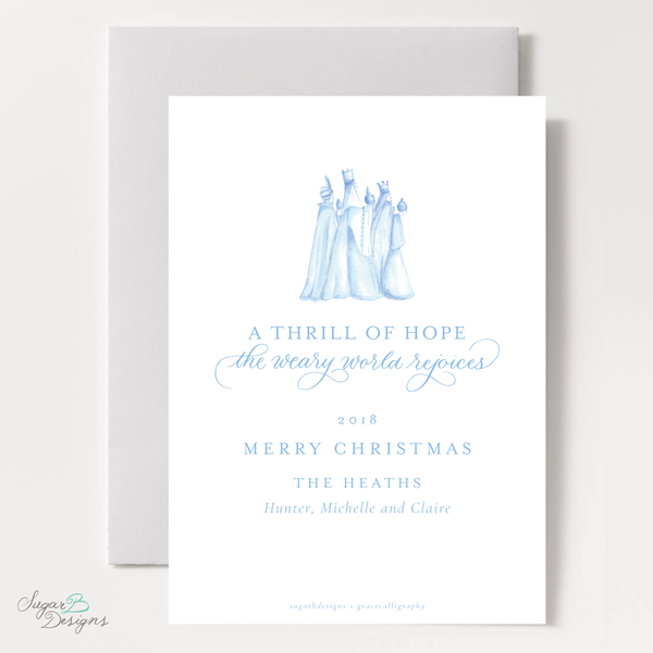 Wise Men Posie Pattern Christmas Card
