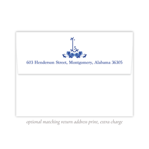 York Blue Christmas Return Address Print