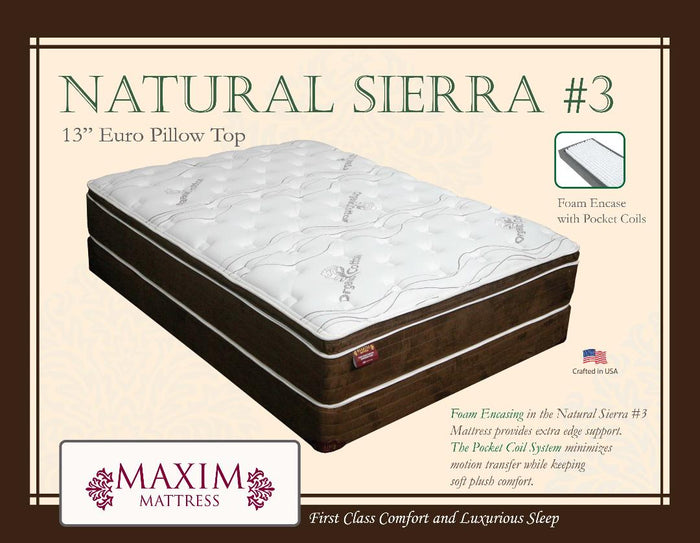 Natural Sierra #3 Euro Pillow Top