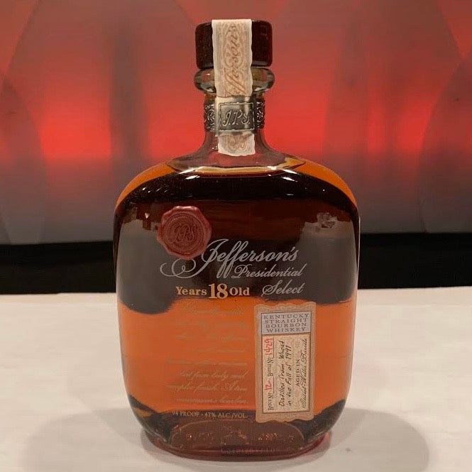 Jefferson's Presidential Select 18 Years Old