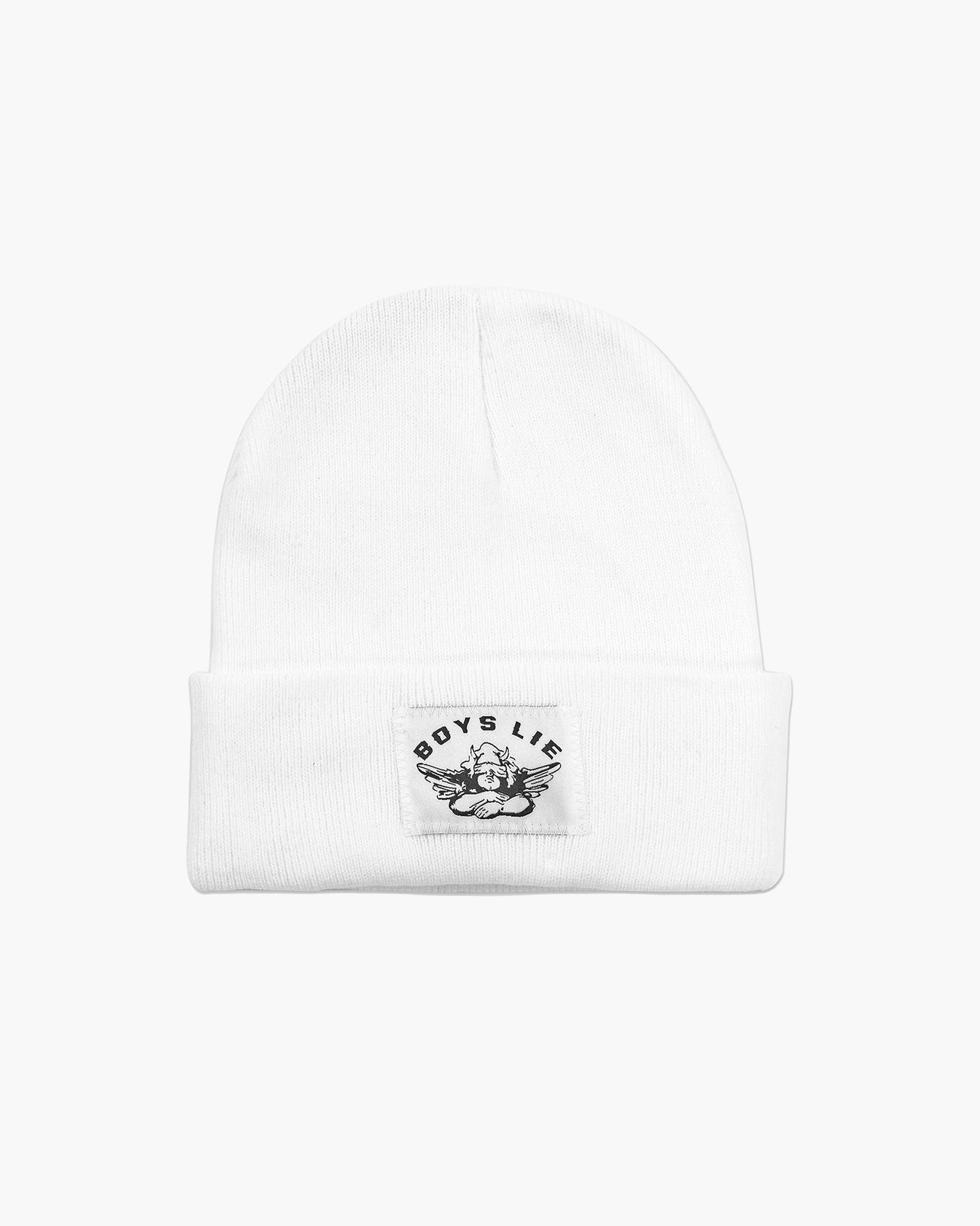 BOYS LIE WHITE BEANIE