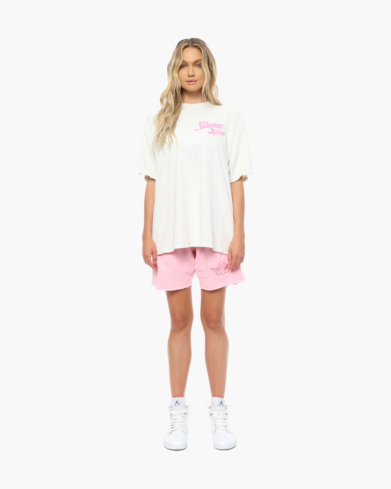 Heaven Sighs (White/Pink) Tee