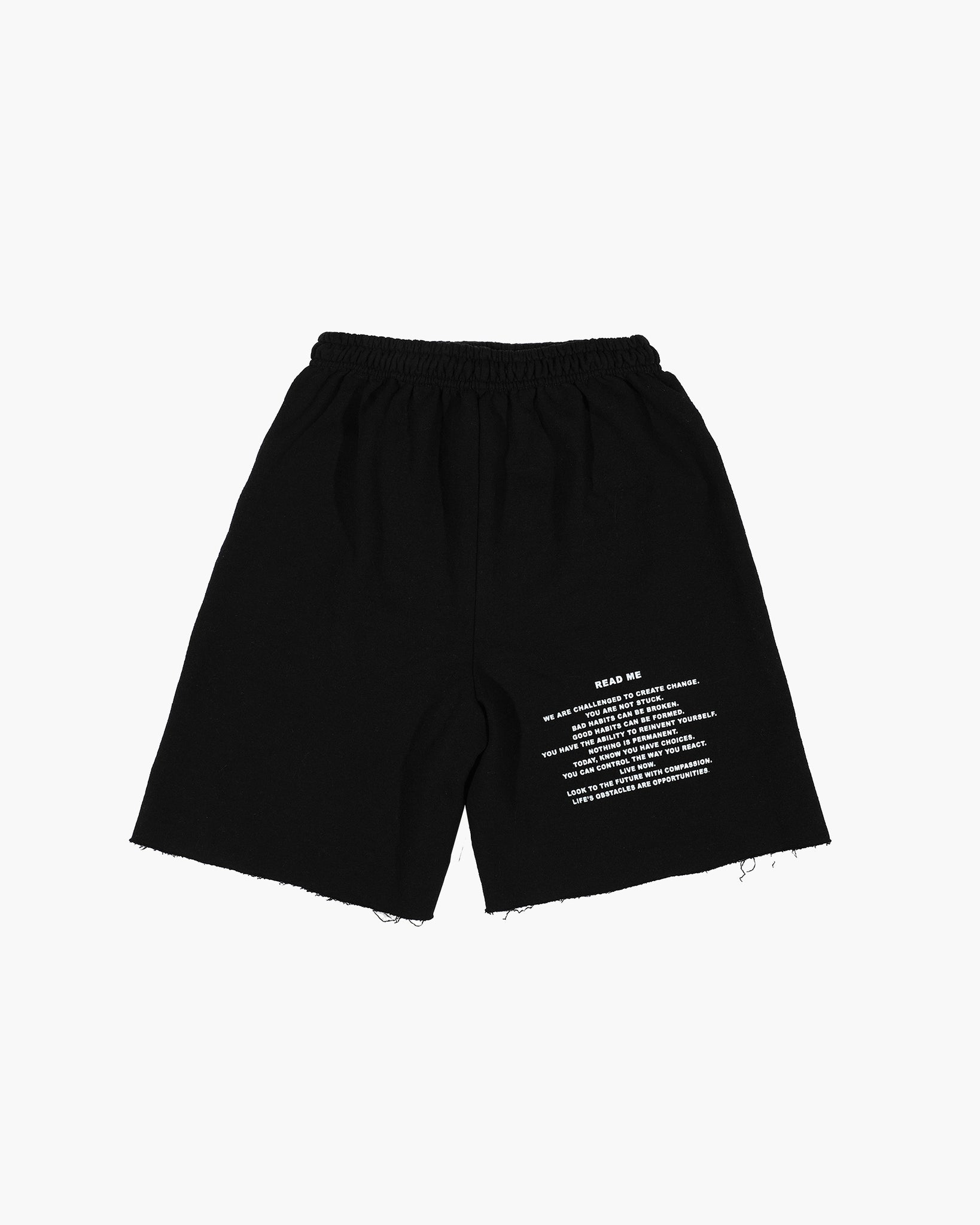 Black READ ME V2 Shorts