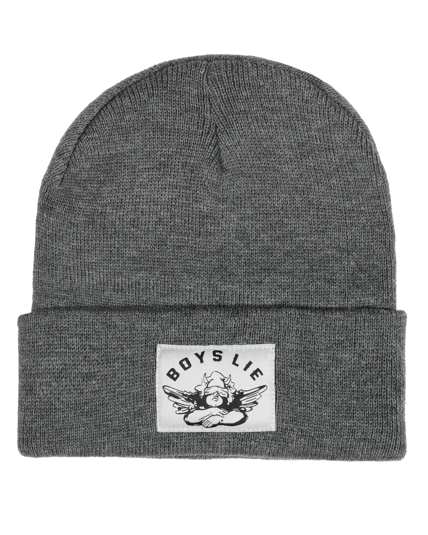 BOYS LIE DARK HEATHER GREY BEANIE