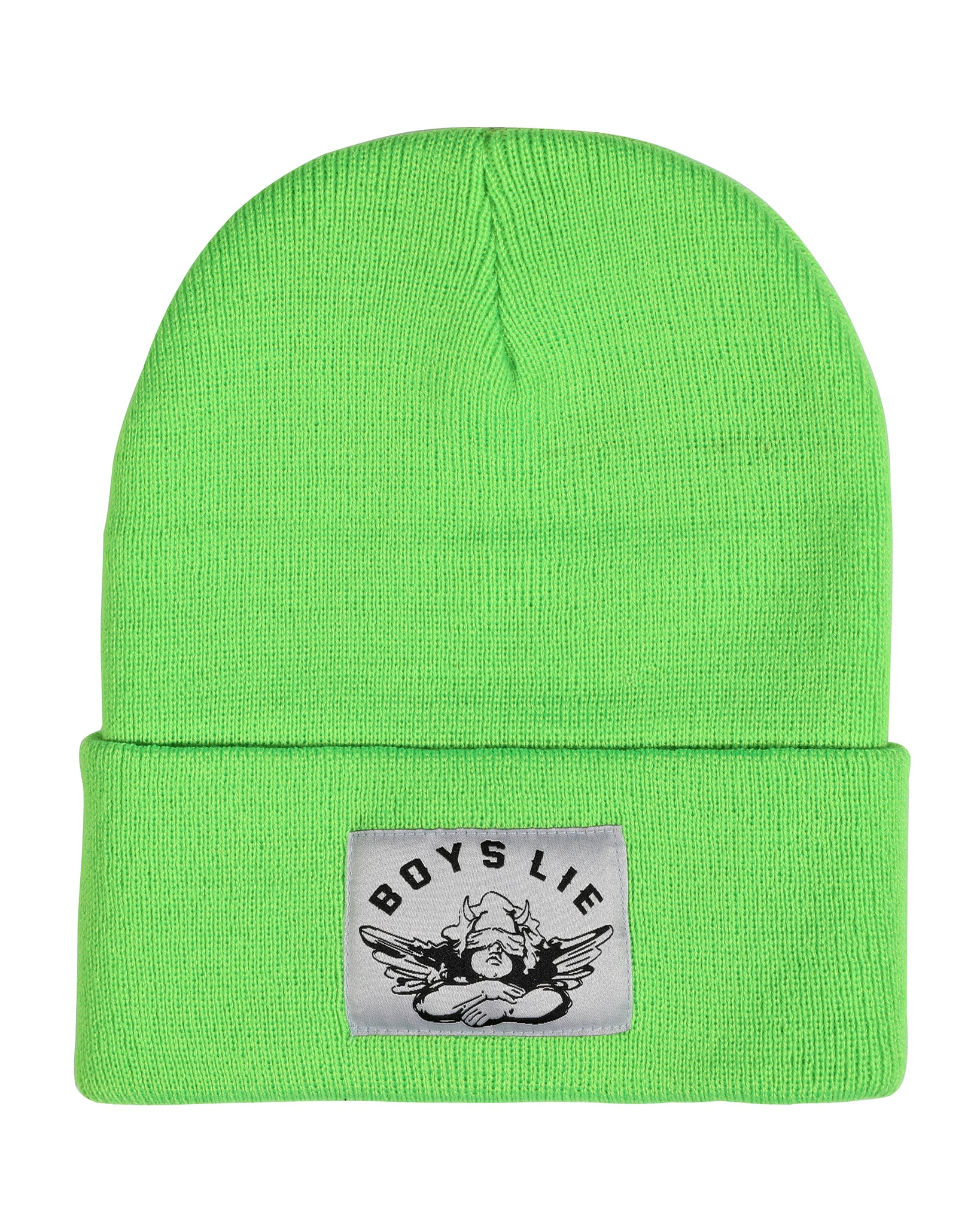 BOYS LIE NEON GREEN BEANIE