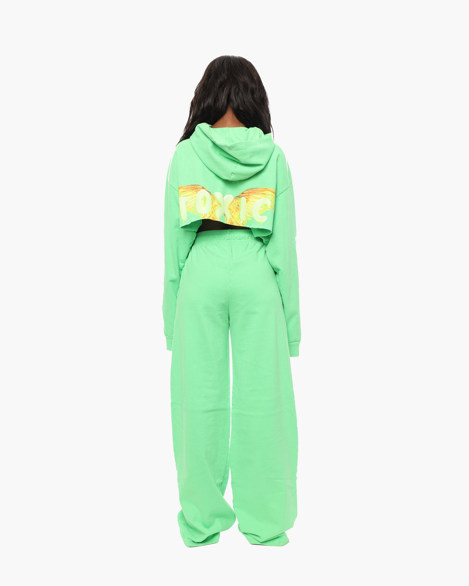 TOXIC LOVE Neon Green Brady Pants