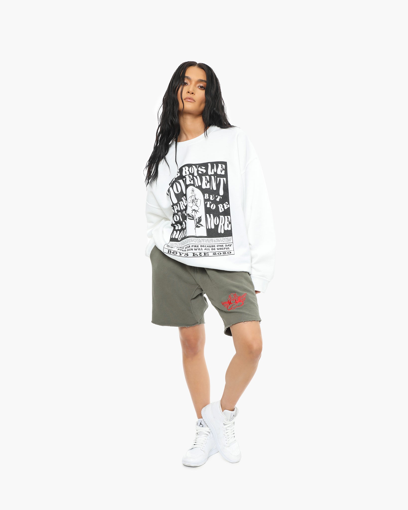 White Boys Lie Movement W1 Crewneck