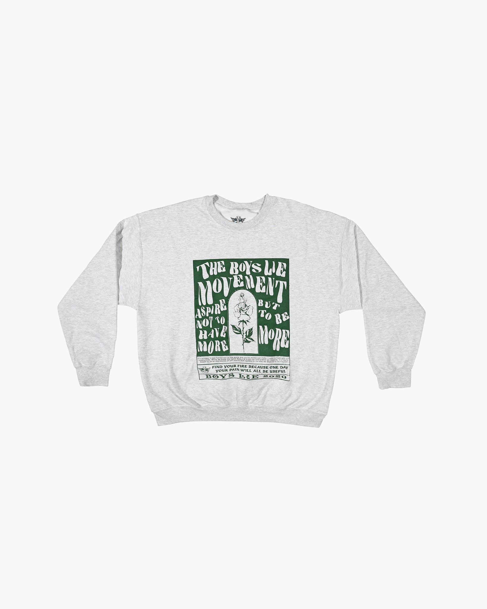 Grey Boys Lie Movement G1 Crewneck