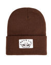 BOYS LIE BROWN BEANIE