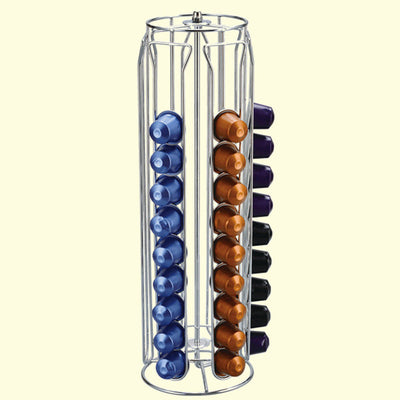 Coffee Pod Holder Dispenser Coffee Capsules Dispensing Tower Stand Fits Nespresso Capsule Storage
