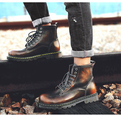 Men's Genuine leather Autumn Boots