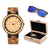 THE WOODEN BOX -  WO26 WOOD WATCH AND SUNGLASSES GIFT BOX