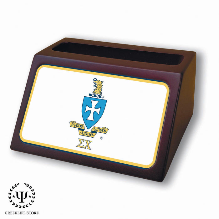 Sigma Chi Wooden Card Holder