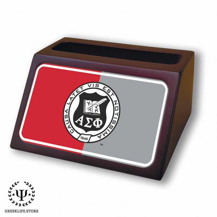 Alpha Sigma Phi Wooden Card Holder