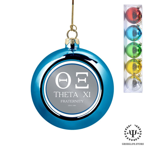 Theta Xi Set of 5 color balls Christmas décor ornament - greeklife.store
