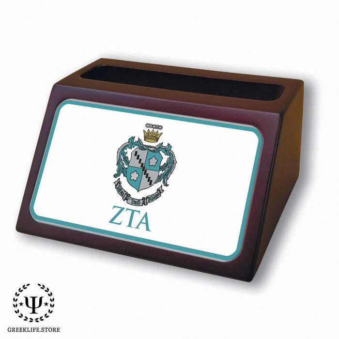 Zeta Tau Alpha Wooden Card Holder - greeklife.store