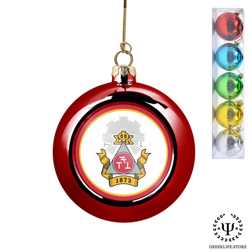 Phi Sigma Kappa Set of 5 color balls Christmas décor ornament - greeklife.store
