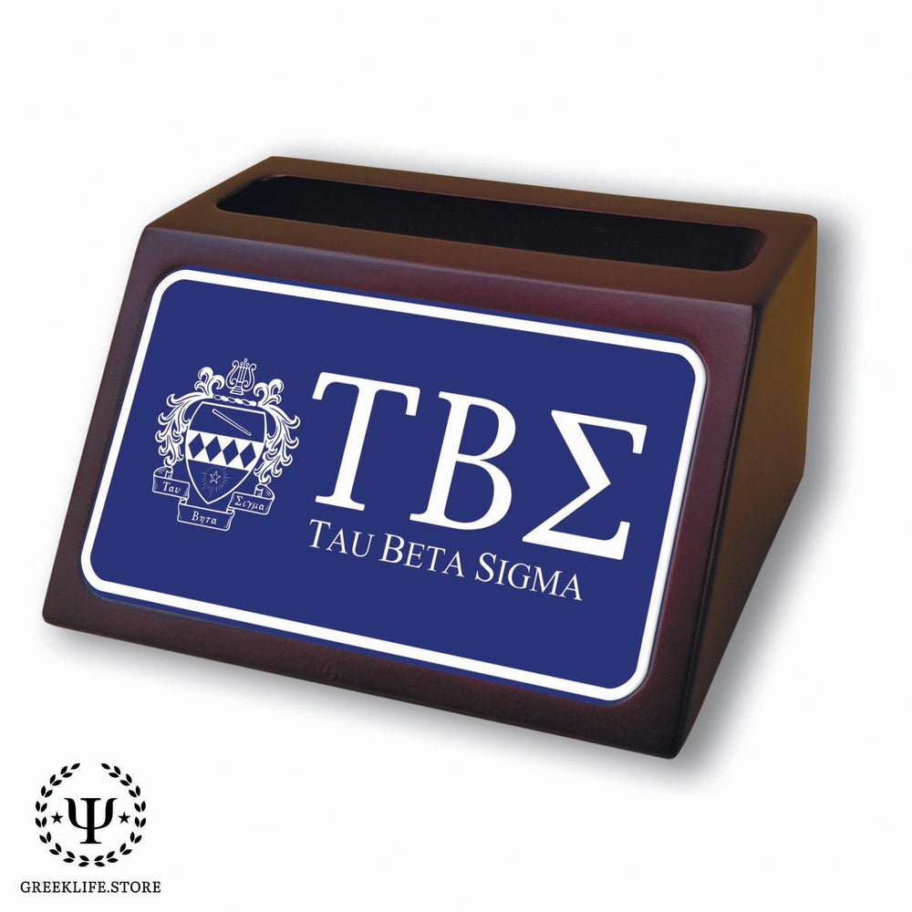 Tau Beta Sigma Wooden Card Holder