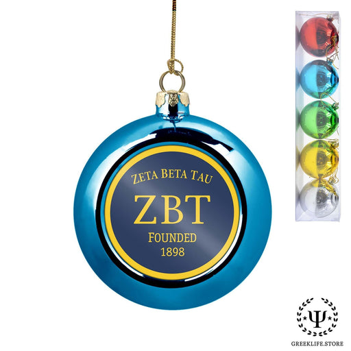 Zeta Beta Tau Set of 5 color balls Christmas décor ornament - greeklife.store