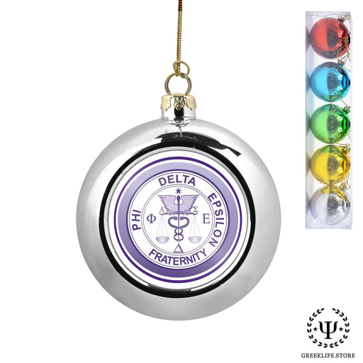 Phi Delta Epsilon Set of 5 color balls Christmas décor ornament - greeklife.store