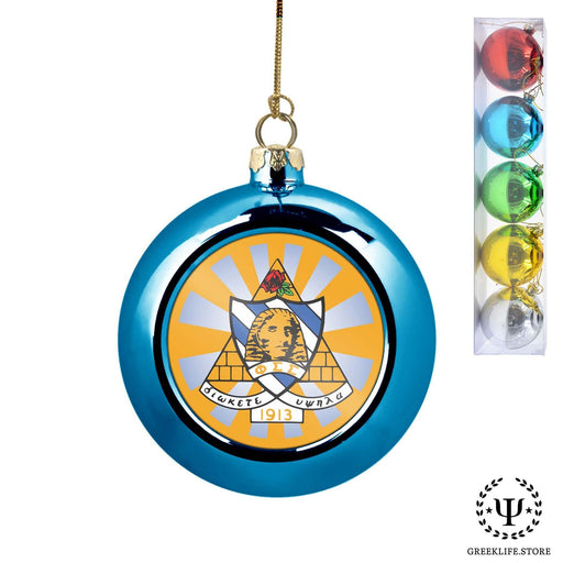 Phi Sigma Sigma Set of 5 color balls Christmas décor ornament - greeklife.store