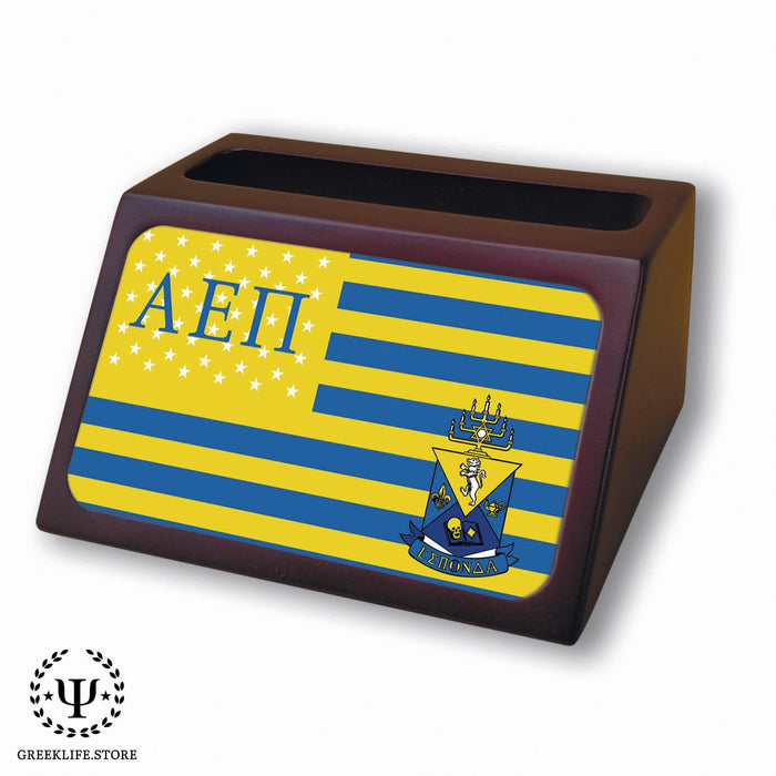 Alpha Epsilon Pi Wooden Card Holder - greeklife.store