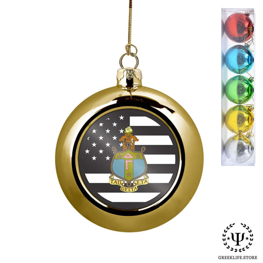 Delta Gamma Set of 5 color balls Christmas décor ornament - greeklife.store