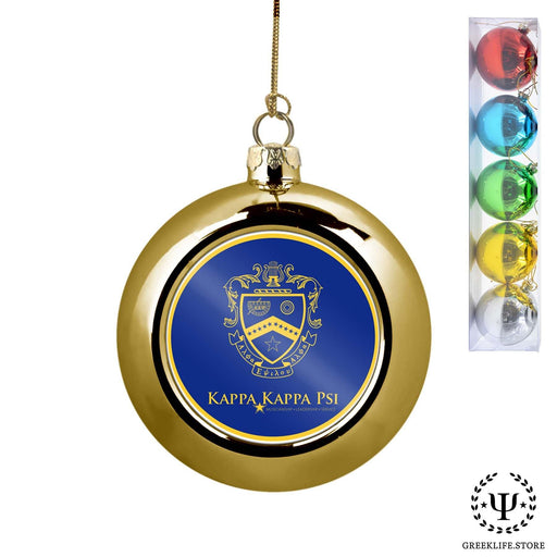 Kappa Kappa Psi Set of 5 color balls Christmas décor ornament - greeklife.store
