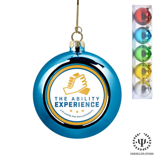 Pi Kappa Phi Set of 5 color balls Christmas décor ornament - greeklife.store