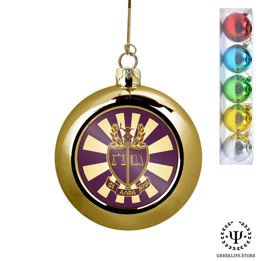 Phi Alpha Delta Set of 5 color balls Christmas décor ornament - greeklife.store