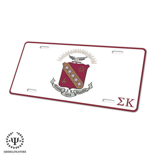 Sigma Kappa Decorative License Plate - greeklife.store