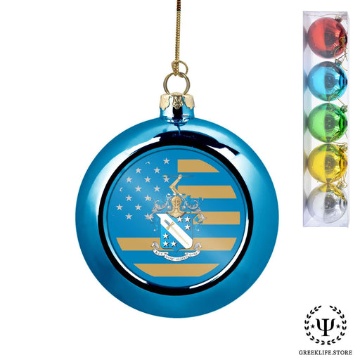 Phi Delta Theta Set of 5 color balls Christmas décor ornament - greeklife.store