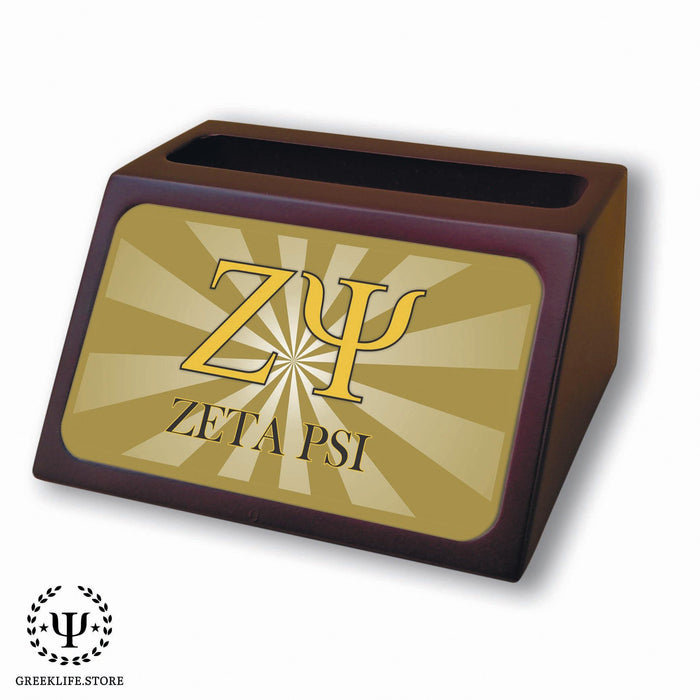Zeta Psi Wooden Card Holder