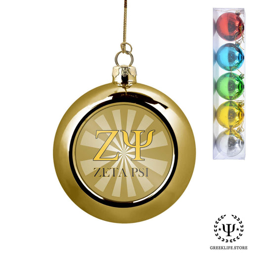 Zeta Psi Set of 5 color balls Christmas décor ornament - greeklife.store