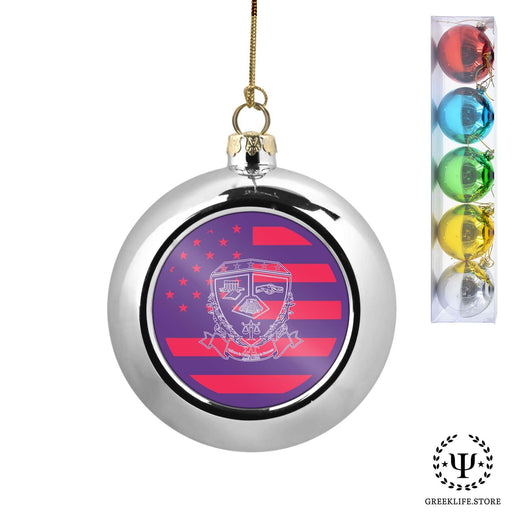 Sigma Lambda Gamma Set of 5 color balls Christmas décor ornament - greeklife.store