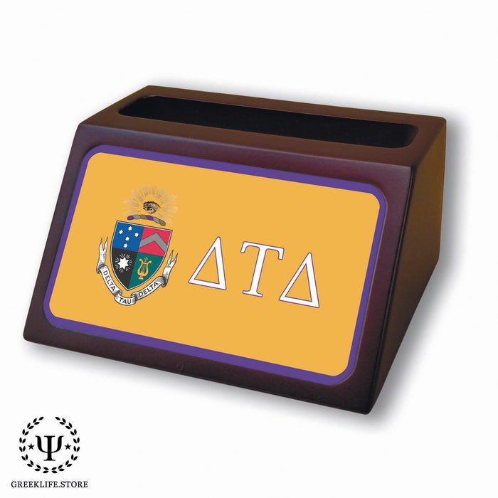 Delta Tau Delta Wooden Card Holder