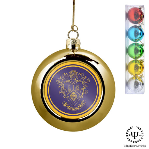 Delta Sigma Pi Set of 5 color balls Christmas décor ornament - greeklife.store