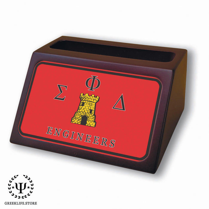 Sigma Phi Delta Wooden Card Holder