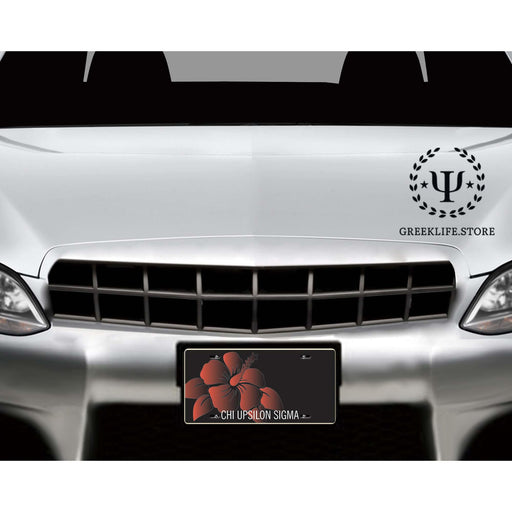 Chi Upsilon Sigma Decorative License Plate - greeklife.store