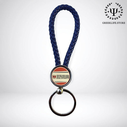 Chi Upsilon Sigma Key chain round - greeklife.store