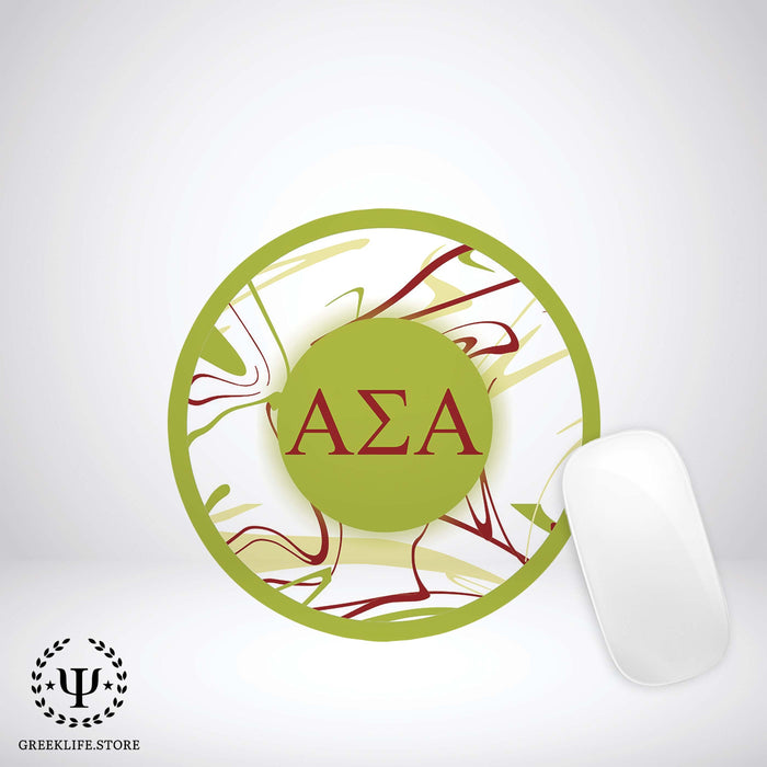 Alpha Sigma Alpha Mouse Pad Round - greeklife.store