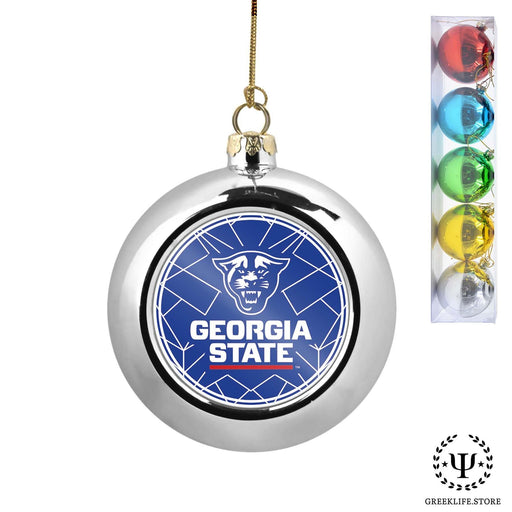 Georgia State University Set of 5 color balls Christmas décor ornament - greeklife.store