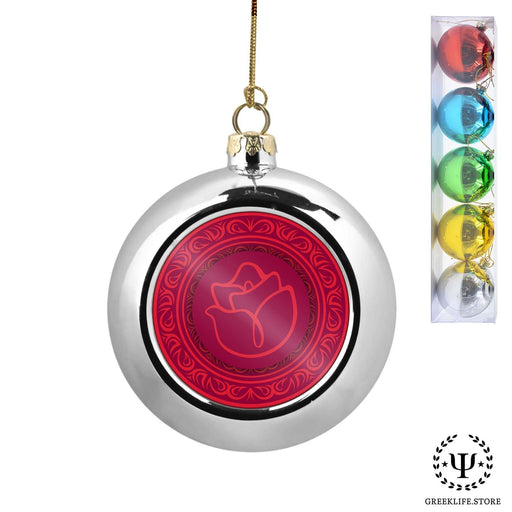 Alpha Gamma Delta Set of 5 color balls Christmas décor ornament - greeklife.store