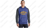 Crescent Football Light Weight Heathered Royal and Charcoal Sweatshirt