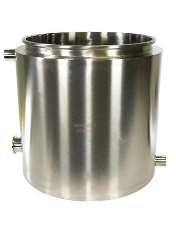 "Fully Jacketed Base with 1.5"" Tri-Clamp Drain Port"