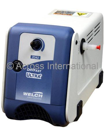Welch 2042 1.2 cfm DryFast Ultra 2-Head Diaphragm Chemical Duty Pump